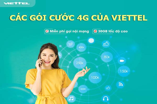 Cách đăng ký mạng 4G Viettel 30 ngày