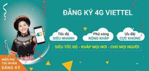 Đăng Ký 3G 4G Viettel 1 Tháng
