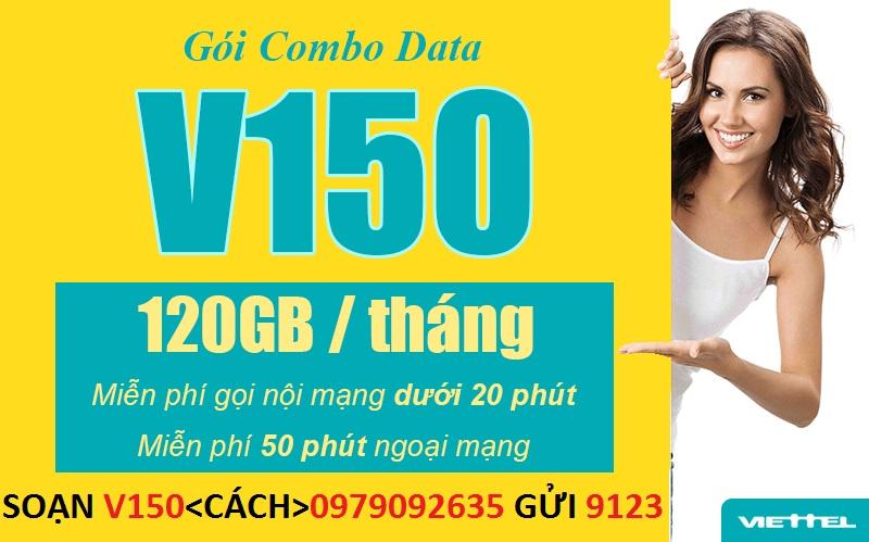 Đăng Ký 3G 4G Viettel Gói V150