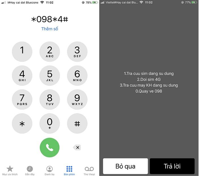 Cách kiểm tra sim 3G hay 4G Viettel